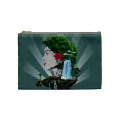 Digital Nature Beauty Cosmetic Bag (medium)
