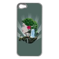 Digital Nature Beauty Apple Iphone 5 Case (silver)