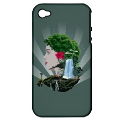 Digital Nature Beauty Apple Iphone 4/4s Hardshell Case (pc+silicone)