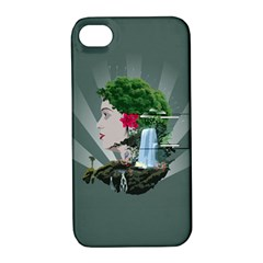 Digital Nature Beauty Apple Iphone 4/4s Hardshell Case With Stand