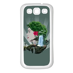 Digital Nature Beauty Samsung Galaxy S3 Back Case (white)