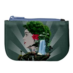 Digital Nature Beauty Large Coin Purse