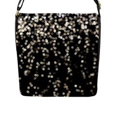 Christmas Bokeh Lights Background Flap Messenger Bag (l)