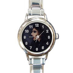 Vampire Woman Vampire Lady Round Italian Charm Watch