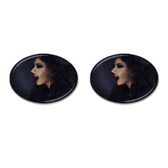 Vampire Woman Vampire Lady Cufflinks (oval)