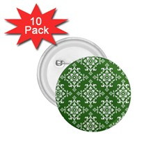 St Patrick S Day Damask Vintage 1 75  Buttons (10 Pack)