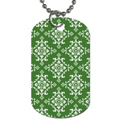 St Patrick S Day Damask Vintage Dog Tag (two Sides) by BangZart