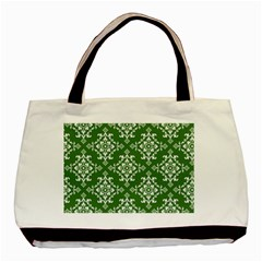 St Patrick S Day Damask Vintage Basic Tote Bag (two Sides)