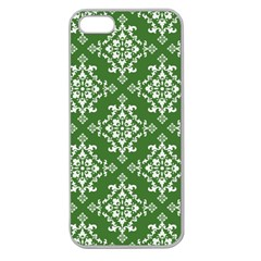 St Patrick S Day Damask Vintage Apple Seamless Iphone 5 Case (clear)