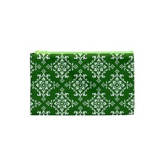 St Patrick S Day Damask Vintage Cosmetic Bag (xs) by BangZart