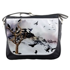 Birds Crows Black Ravens Wing Messenger Bags by BangZart
