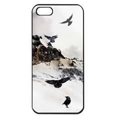 Birds Crows Black Ravens Wing Apple Iphone 5 Seamless Case (black)