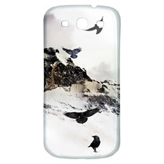 Birds Crows Black Ravens Wing Samsung Galaxy S3 S Iii Classic Hardshell Back Case by BangZart