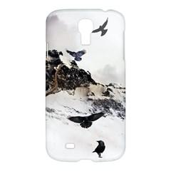 Birds Crows Black Ravens Wing Samsung Galaxy S4 I9500/i9505 Hardshell Case