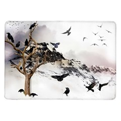 Birds Crows Black Ravens Wing Samsung Galaxy Tab 10 1  P7500 Flip Case
