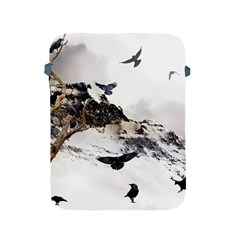 Birds Crows Black Ravens Wing Apple Ipad 2/3/4 Protective Soft Cases