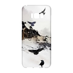 Birds Crows Black Ravens Wing Samsung Galaxy S8 Hardshell Case