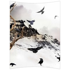Birds Crows Black Ravens Wing Back Support Cushion by BangZart