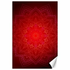 Mandala Ornament Floral Pattern Canvas 24  X 36