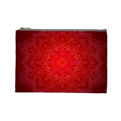 Mandala Ornament Floral Pattern Cosmetic Bag (large)