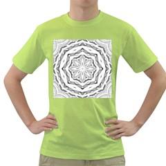 Mandala Pattern Floral Green T Shirt