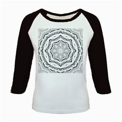 Mandala Pattern Floral Kids Baseball Jerseys