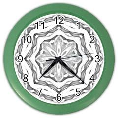 Mandala Pattern Floral Color Wall Clocks