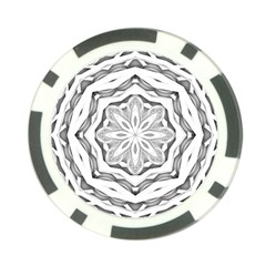 Mandala Pattern Floral Poker Chip Card Guard (10 Pack)