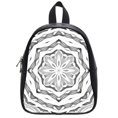 Mandala Pattern Floral School Bag (small)
