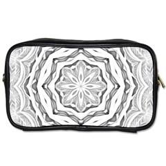 Mandala Pattern Floral Toiletries Bags 2 Side