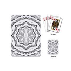 Mandala Pattern Floral Playing Cards (mini)  by BangZart