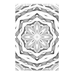 Mandala Pattern Floral Shower Curtain 48  X 72  (small)