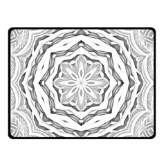 Mandala Pattern Floral Double Sided Fleece Blanket (small)  by BangZart
