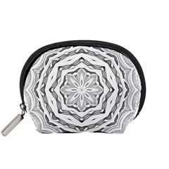 Mandala Pattern Floral Accessory Pouches (small)