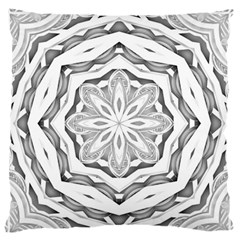 Mandala Pattern Floral Large Flano Cushion Case (one Side) by BangZart