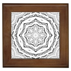 Mandala Pattern Floral Framed Tiles