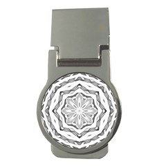 Mandala Pattern Floral Money Clips (round)