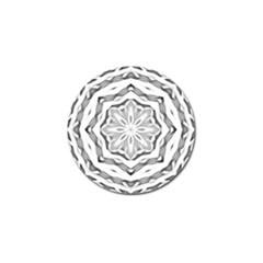 Mandala Pattern Floral Golf Ball Marker (10 Pack)