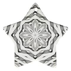 Mandala Pattern Floral Star Ornament (two Sides)