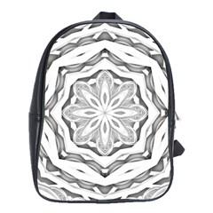 Mandala Pattern Floral School Bag (large)