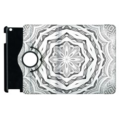 Mandala Pattern Floral Apple Ipad 3/4 Flip 360 Case