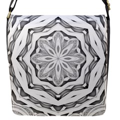 Mandala Pattern Floral Flap Messenger Bag (s)