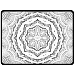 Mandala Pattern Floral Double Sided Fleece Blanket (large)