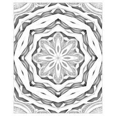 Mandala Pattern Floral Drawstring Bag (small)