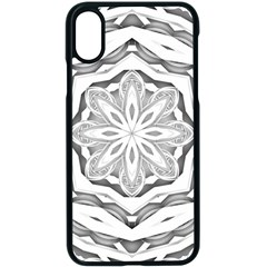 Mandala Pattern Floral Apple Iphone X Seamless Case (black)