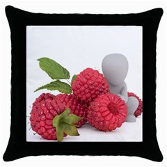 Fruit Healthy Vitamin Vegan Throw Pillow Case (black)