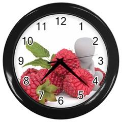 Fruit Healthy Vitamin Vegan Wall Clocks (black)