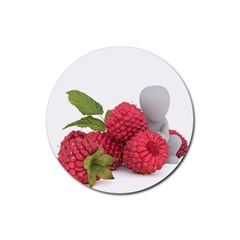 Fruit Healthy Vitamin Vegan Rubber Coaster (round)  by BangZart