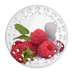 Fruit Healthy Vitamin Vegan Round Filigree Ornament (two Sides)