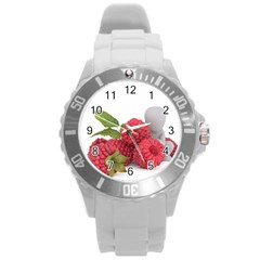 Fruit Healthy Vitamin Vegan Round Plastic Sport Watch (l) by BangZart